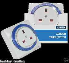 24HOUR 24HR MAINS PLUG IN TIMER SWITCH TIME CLOCK SOCKET UK 3 PIN NEW MULTI PACK