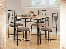 Dining Set Table Metal Sets Silver Room Furniture Kitchen Chairs Tables Vintage