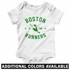 Boston is for Runners One Piece - RUN BOS Infant Creeper Romper Baby NB to 24M