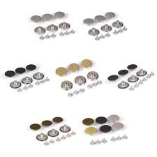 6 sets 20mm Jeans Buttons Hammer On Replacement Jean Tack Metal Button With Pins