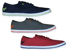 MENS TRAINERS VOI JEANS FIERY LACE-UP STYLE 3 COLOUR DESIGNER NAVY RED GREY 6-12
