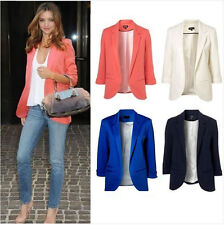 Spring Womens Fashion 12 Candy Colors Seventh Volume Sleeve Jacket Blazers+Gift