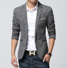 NEW Mens Fashion Slim Fit Blazers Spring Suit Casual Clothes Coats Jackets M-4XL