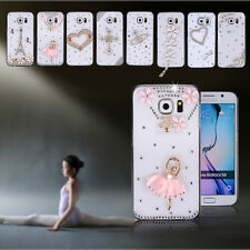 For Samsung Galaxy S6 G9200 3D Bling Diamond Crystal Clear Hard Back Cover Case