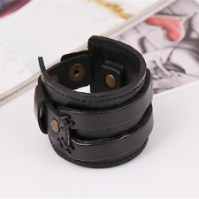 New Style Punk Men Women Wide Cowhide Leather Belt Bracelets Hot Sale Wristbands