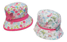 Girls Sun Hat Bush Bucket Cotton Childrens Hat Summer Sun Age 3 - 12 Years