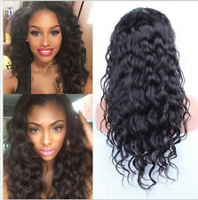 4 colors 100% Soft Malaysian Curly Remy Human Hair Full Lace/Lace Front Wigs