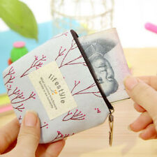 New Women's Small Canvas Purse Zip Wallet Lady Coin Case Bag Handbag Key Holder