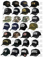 Adjustable Hat BaseBall Cap - CAMOUFLAGE RESCUE FIRE LAW ENFORCEMENT VETERAN EMT