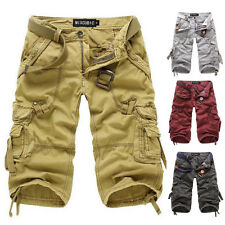 2015 Mens Fashion Shorts Casual Hobo Army Cargo Shorts Pants Baggy Sport Shorts