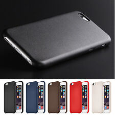 Luxury Faux Lambskin LEATHER SLIM BACK COVER PER IPHONE 6 + screen shield