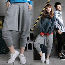 Mens Womens Casual Harem Baggy Tomboys Hip Hop Dance Sweat Pants Slacks Trousers