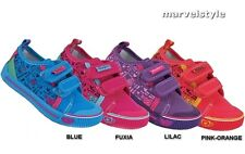 GIRLS CANVAS SHOES PUMPS TRAINERS SNEAKERS UK size 8-12.5 /EU 26-31 LOVELY !