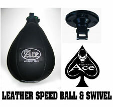 ACE FIGHT GEAR Leather Speedball and Speed Ball Swivel MMA Boxing