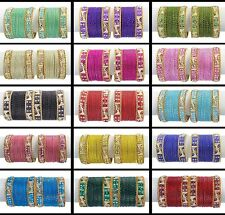 Designer Bollywood Trend Bangle Kada Set Wedding Wear Indian Costume Jewelry