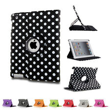 360 Rotating Polka Dot PU Leather Case Cover Stand For iPad 2 3 4 mini Air 1st