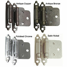Satin Nickel/Polished Chrome Flush Hinges Kitchen Cabinet Self Close Door Hinges