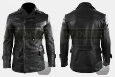 KRIEGSMARINE Men's German Submarine WW2 UBoat Reefer CowHide Leather Jacket Coat