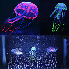 "5.5"" Glowing Effect Jellyfish Ornament Fish Tank Aquarium Artificial Decoration"