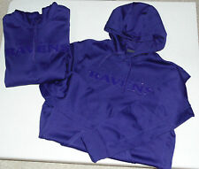 NIKE NFL BALTIMORE RAVENS DRENCHED THERMA FIT HOODIE HOODY PRE OWNED $80 PURPLE