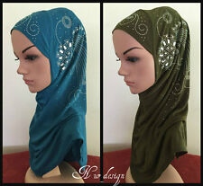 1 piece Al Amira Muslim women One size Polyester Hijab with Rhinestone #1.