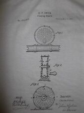 Vintage Orvis Fly Reel Patent Art T Shirt.The Fishing life, is good,Men's NWT