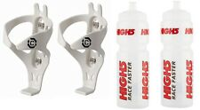 2 x CLARKS Lightweight Bottle Cage Cages black or white 2 x HIGH5 Water Bottles