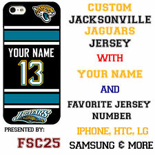 Custom JACKSONVILLE JAGUARS Phone Case Cover w Your Name & Jersey Number IPhone
