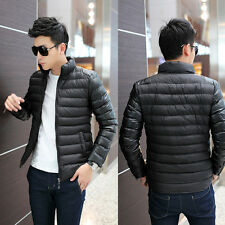Fashion New Winter Warm Men's Down Slim Jacket Coats Outdoor Overcoat