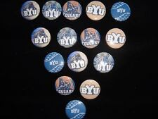 BYU cougers  flat back button or pin badge cabochons embellishments centers
