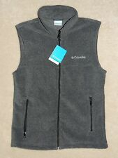 Columbia Flattop Mountain Full Zip Fleece Vest Men's S,M,L,XL Gray NWT