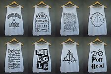 Harry Potter Parody Magic Spell Swag Hipster Tumblr Funny Women White Tank Top