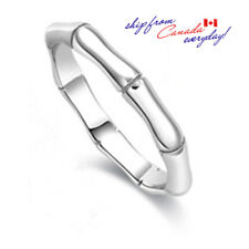 Unisex S925 Sterling Silver Bamboo Style Ring/18K GP/Free Shipping