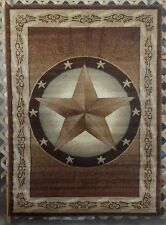 NEW! 6X8 5X7 Brown Texas Star Cowboy Country Western Cabin Lodge Area Rug