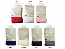 1 PAIR NIFTY TIGHTS BABY GIRLS CASUAL WEAR, COTTON BLACK GREY WHITE 0-24 Months