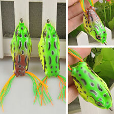 One Cute Large Frog Topwater Fishing Lure Crankbait Hooks Bass Bait Tackle CH