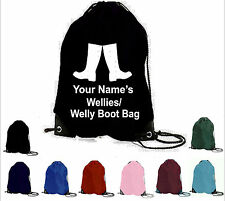 PERSONALISED WELLIES WELLY WELLINGTON BOOT BOOTS BAG YOUR TEXT NAME CHRISTMAS