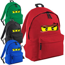 Ninjago Backpack  Ninja Face Inspired Fun Cool Design Back to School College Bag