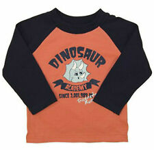 BNWT Baby Toddler Boys Dinosaur Long Sleeve Raglan T-shirt Top - Sizes 0 1 2