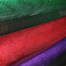 "METALLIC FISH NET FABRIC 58"" WIDE BY THE YARD HOME DECOR & SPECIAL OCCASION"