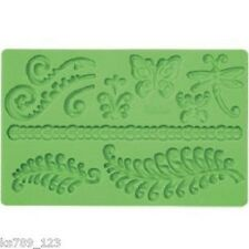 Wilton Cake Decorating Cupcake Fondant & Gum Paste Mould Mold Fern or Baroque