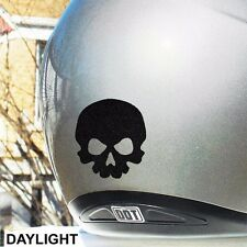 Little Skull Hyper Reflective Motorcycle Helmet Safety Decal #484R