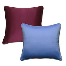 Decorative Plain Solid Colour Sateen Poly Cotton Scatter Cushion Covers / Inner