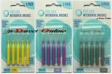 5 SMALL MED LRG INTER-DENTAL BRUSHES ANIT-BACTERIAL BRISTLE PROTECT TOOTH FLOSS