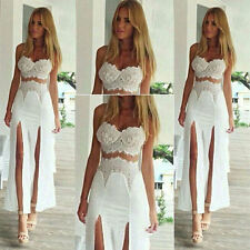Fashion Ladies SEXY Sleeveless Bobo Party Cocktail Long Maxi Beach Dress 6-14