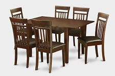 MLCA7-MAH 7 Piece kitchen nook dining set-small table and 6 dining room chairs