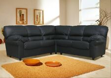 NEW Faux Leather Candy Corner 4 Seater Sofa Black Brown Cream Red Suite White