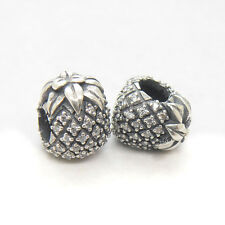 NEW Authentic S925 Silver PINEAPPLE SILVER CHARM WITH CUBIC ZIRCONIA Bead