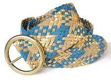 Suede Leather Braided Woven Belt.