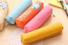 Pencil Pen Case Bag Purse wallet Cosmetic Makeup Coin Pouch Zipper Unique10v